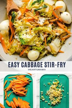 Stir-Fried Napa Cabbage with Quail Eggs is a savory Chinese cabbage stir-fry recipe that tastes sweet, extra juicy, and super easy to make! #cabbage #napacabbage #stirfry #asianrecipes #chineserecipes #vegetarianrecipes Paleo Meal Prep, Whole30 Dinner Recipes, Paleo Recipes Easy, Gluten Free Recipes For Dinner, Asian Recipes, Real Food Recipes, Vegetarian Recipes, Stir Fry Napa Cabbage, Chinese Cabbage Stir Fry