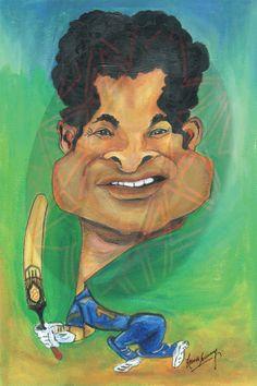 Caricature - Sachin Tendulkar (Acrylic)