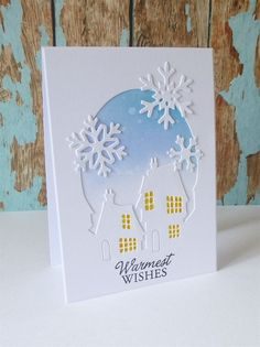 'Warmest Wishes' handmade card.