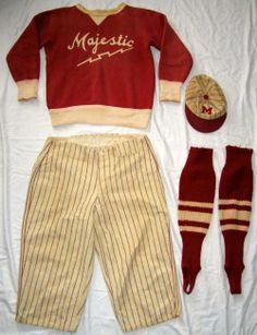 1920s baseball uniform