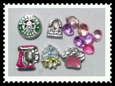 Starbucks Muffin Bag Living Memory Floating Charms for Locket w Free Shipping   Jewelry & Watches, Fashion Jewelry, Charms & Charm Bracelets   eBay!