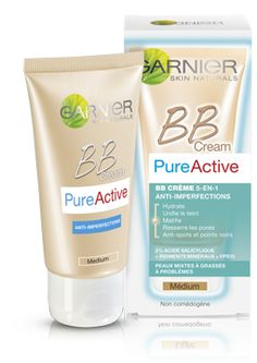 Garnier Pure Active B B Cream medium and light shades - Product Image