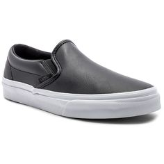 Vans Slip-On ($60) ❤ liked on Polyvore featuring shoes, sneakers, vans footwear, vans sneakers, vans trainers, slip on shoes and leather upper shoes