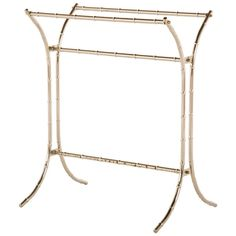 Vintage Hollywood Regency Brass Faux Bamboo Free-Standing Blanket / Towel Rack by ElectricMarigold on Etsy