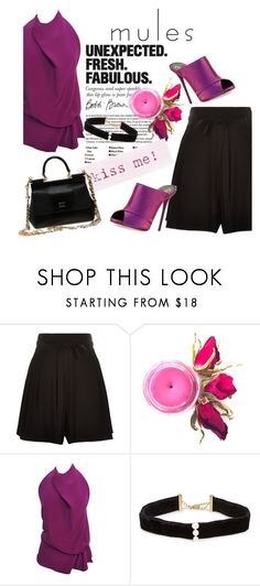 """Glam Mules"" by clotheshawg ❤ liked on Polyvore featuring Marc Jacobs, Christian Louboutin, Tom Ford, Anissa Kermiche and Dolce&Gabbana"