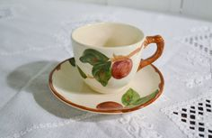 Vintage Franciscan Apple Cup and Saucer Earthenware California Pottery American Backstamp PanchosPorch