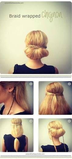 peinado, recogido elegante