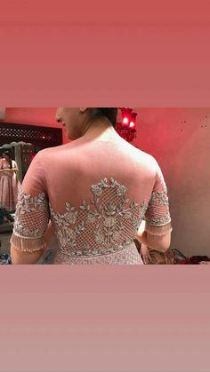 @raashik99 Bridal Mehndi Designs, Bridal Blouse Designs, Tea Party Attire, Bridesmaid Saree, Maggam Work Designs, Saree Blouse Neck Designs, Stylish Blouse Design, Embroidery Fashion, Simple Dresses