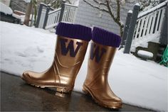 UW Galoshes--Now not even Mother Nature can keep you from tailgating!