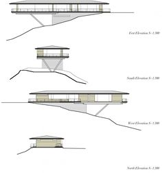 House in Yatsugatake Mountains. Elevations. Architects: Kidosaki Architects Studio. Location: Nagano, Japan. Year: 2012.