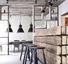 Restaurant wood bancone assi legno