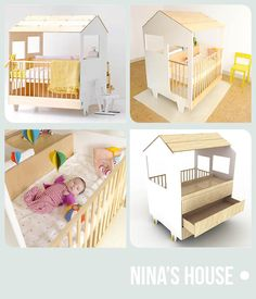 nina's House Dutch Design for baby's Baby Cribs, Decoration, Baby Love, Toddler Bed, Babies, Building, Dutch, Pregnancy, House