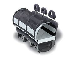Tunnel carrier for your furry backseat companion! Features of the Pet Tube Car Kennel: - Mesh top for ventilation - Folds up for easy transport and storage - Large tunnel is adjustable to one or two t