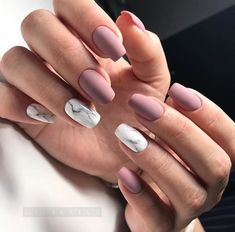 NagelDesign Elegant Elegant Nail Art Wish ) # Best Acrylic Nails, Acrylic Nail Designs, Nail Art Designs, Shellac Designs, Acrylic Gel, Nagel Stamping, Mauve Nails, Matte Gel Nails, Pointy Nails