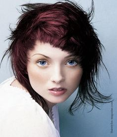 long short purple layered hairstyles 2013