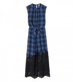 Rebecca Taylor Plaid Dress with Lace