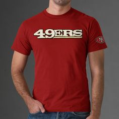 eea8a9432 San Francisco 49ers red men tshirt Nfl Green Bay, Green Bay Packers, Red  Shop