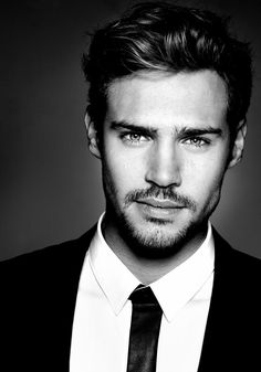 This guy's gorgeous.  Love his facial hair. I hate those landing strip things below the bottom lip.