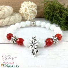 Piros virágok jade ásvány karkötő (Arindaekszerek) - Meska.hu Beaded Bracelets, Jewelry, Fashion, Jewlery, Moda, Jewels, La Mode, Jewerly, Fasion