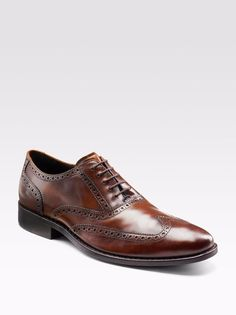 COLE Haan SHOES 8 1 2 M Brown AIR Colton WINGTIP Oxford MENS Size LEATHER d11c92fbb