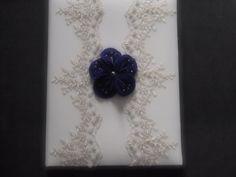 Memory Album Wedding Purple Ivory Lace Magnolia Flower choose your colors #weddingmemoryalbum by ArtisanFeltStudio, $48.00