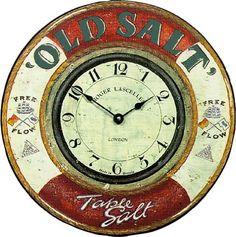 Roger Lascelles Nautical Wall Clock, Old Salt, 14.2-Inch