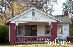 old run down vacant house before we restored...