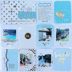 Project Life: Week 28|2014. I used Heidi Swapp's Gold  Foil Value Kit for this page. Pocket page Design F. #heidiswapp #projectlife #hsprojectlife @heidiswapp @beckyhigginsllc