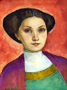 Portrait of Ms. Svea Cervin, Nils von Dardel