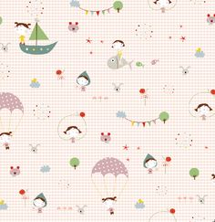 Kids wall art, prints and murals-Cuadros infantiles, láminas y tarjetas para fiestas — Telas infantiles colección Coordonné- Coordonné kids fabrics
