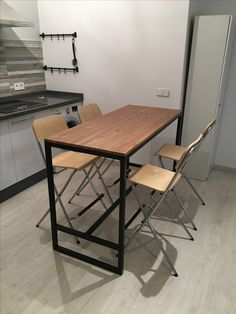 Interior Exterior, Interior Design, Small Dining, Drafting Desk, Dining Table, Loft, House Design, Kitchen, Furniture