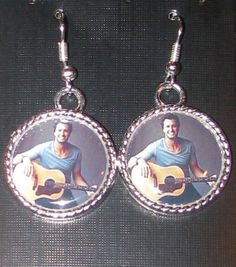 Luke Bryan Nice Silver Plated Frame 3/4 Earrings by DixonsJewelry, $7.99