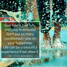 Give freely...