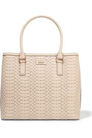 DKNYLaser-cut textured-leather tote - Beautiful!