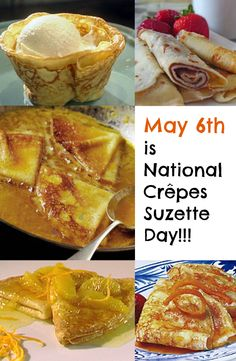 Happy National Crêpes Suzette Day! Here are our favorite ways to prepare and enjoy Crêpes Suzette! See recipes ---> http://www.discountqueens.com/may-6th-is-national-crepes-suzette-day/