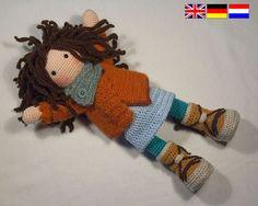 Patron au crochet pour poupée MONJA Deutsch English par CAROcreated
