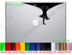 Decorative Laptop Decal made using HIGH Quality 6 year calendared adhesive vinyl, Shipped FREE!!! You choose the Color!!! Available in MATTE BLACK,