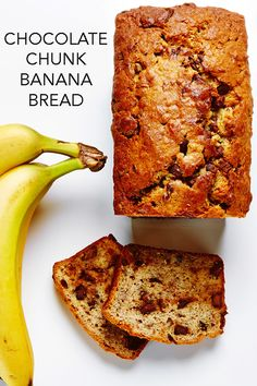 The Best Chocolate Chunk Banana Bread Recipe #BiteMeMore