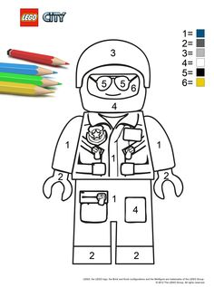 color by number - found on the city.lego.com site