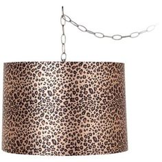 This fabulous drum lamp shade is printed with an on-trend leopard print to add visual texture and warm color to your stylish decor. Style # at Lamps Plus. Contemporary Lamp Shades, Modern Lamp Shades, Chandeliers, Plug In Chandelier, Swag, Leila, Visual Texture, Drum Shade, Canopy