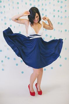 Star Spangled Banner Two Toned Navy and White by CoralieBeatrix, $89.99