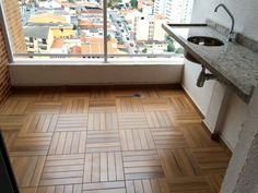 Porcelanato Parquet Mini cor: Caramelo, marca Eliane Tile Floor, 1, Flooring, Rugs, Mini, Home Decor, Verandas, Laundry Room, Garden