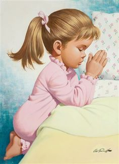 View Bedtime Prayer by Arthur Saron Sarnoff on artnet. Browse upcoming and past auction lots by Arthur Saron Sarnoff. Vintage Illustration Art, Illustrations, Bedtime Prayer, Bible Images, Inspirational Prayers, Prayer Book, Face Expressions, Gif Animé, Children Images