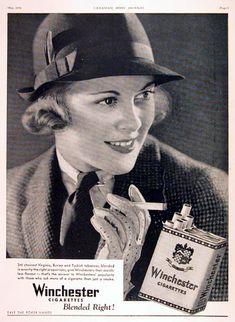 1934 Winchester Cigarettes (Canada) #vintage #ad
