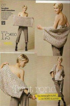 Find a fantasy point that you like and make this bolero . it's a simple rectangle - AlisaSonya - - Find a fantasy point that you like and make this bolero . it's a simple rectangle - AlisaSonya Knitting Patterns, Sewing Patterns, Crochet Patterns, Knitting Ideas, Crochet Shawl, Knit Crochet, Crochet Shrugs, Knit Shrug, Easy Crochet