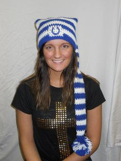 Love this Crochet Colts Winter Hat