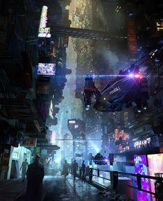 Cyberpunk Cityscape by Eddie Del Rio Cyberpunk City, Ville Cyberpunk, Cyberpunk Kunst, Cyberpunk Aesthetic, Futuristic City, Cyberpunk Fashion, Cyberpunk 2077, Cyberpunk Tattoo, Neon Aesthetic