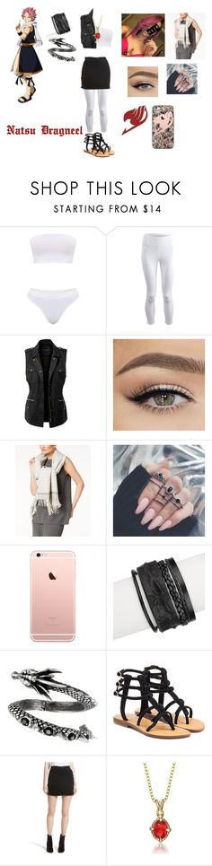 """""""Natsu Dragneel"""" by electraxlaxus on Polyvore featuring Michi, LE3NO, Eileen Fisher, Saachi, Mystique, rag & bone/JEAN and Collette Z"""