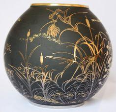 Peinture sur porcelaine: Série Noir