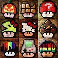Mushrooms hama beads by nilsholgerson83